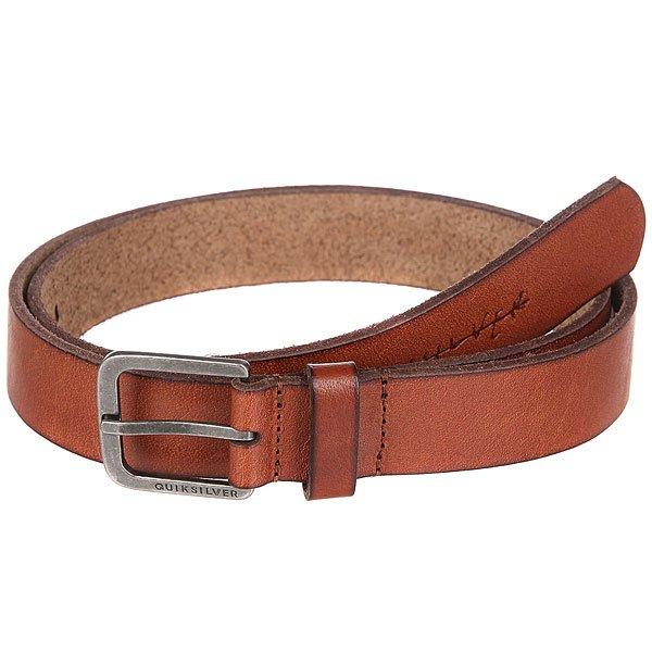 Ремень Quiksilver Slim Natural Leather<br><br>Цвет: коричневый<br>Тип: Ремень<br>Возраст: Взрослый<br>Пол: Мужской