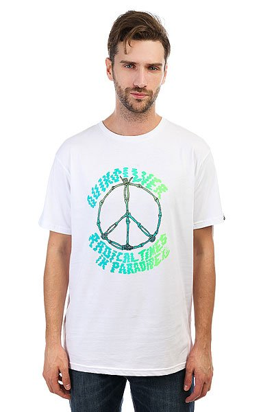 Футболка Quiksilver Peaceskull White<br><br>Цвет: белый<br>Тип: Футболка<br>Возраст: Взрослый<br>Пол: Мужской