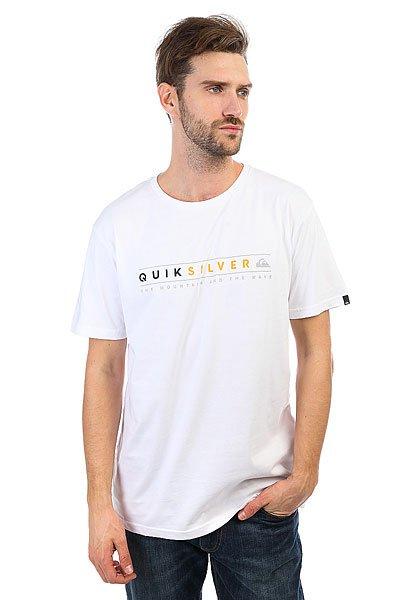 Футболка Quiksilver Alwaysclean White<br><br>Цвет: белый<br>Тип: Футболка<br>Возраст: Взрослый<br>Пол: Мужской