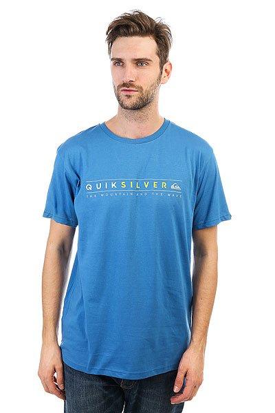 Футболка Quiksilver Alwaysclean Vallarta Blue<br><br>Цвет: синий<br>Тип: Футболка<br>Возраст: Взрослый<br>Пол: Мужской