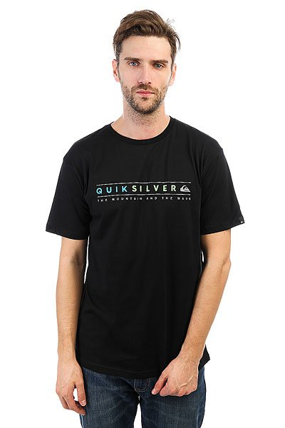 Футболка Quiksilver Alwaysclean Black<br><br>Цвет: черный<br>Тип: Футболка<br>Возраст: Взрослый<br>Пол: Мужской