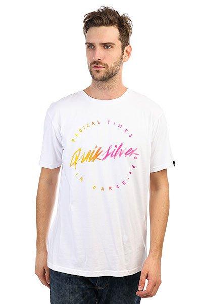 Футболка Quiksilver Rightup White футболка quiksilver dontsnakmyvibss white