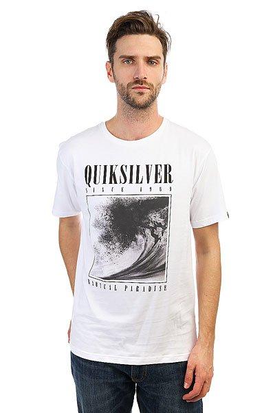 Футболка Quiksilver Bothsides White<br><br>Цвет: белый<br>Тип: Футболка<br>Возраст: Взрослый<br>Пол: Мужской