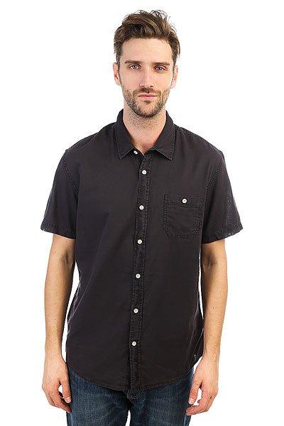 Рубашка Quiksilver Timebox Tarmac<br><br>Цвет: черный<br>Тип: Рубашка<br>Возраст: Взрослый<br>Пол: Мужской
