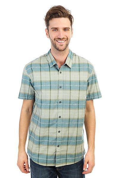 Рубашка в клетку Quiksilver Everydaycheckss Iceberg Green Check<br><br>Цвет: голубой<br>Тип: Рубашка в клетку<br>Возраст: Взрослый<br>Пол: Мужской
