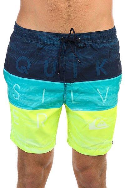 Шорты пляжные Quiksilver Wordwavevol17 Viridian Green<br><br>Цвет: желтый,голубой,синий<br>Тип: Шорты пляжные<br>Возраст: Взрослый<br>Пол: Мужской