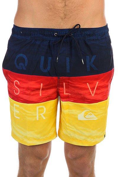 Шорты пляжные Quiksilver Wordwavevol17 Nasturticm<br><br>Цвет: желтый,синий,красный<br>Тип: Шорты пляжные<br>Возраст: Взрослый<br>Пол: Мужской