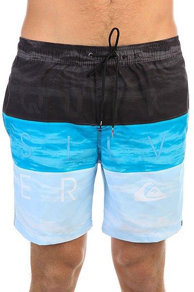 Шорты пляжные Quiksilver Wordwavevol17 Blue Danube<br><br>Цвет: голубой,синий,черный<br>Тип: Шорты пляжные<br>Возраст: Взрослый<br>Пол: Мужской
