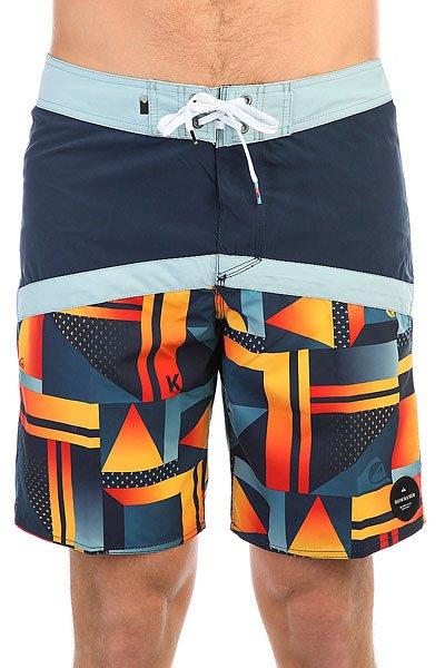 Шорты пляжные Quiksilver Checkcryptvee19 Navy Blazer<br><br>Цвет: синий,оранжевый,голубой<br>Тип: Шорты пляжные<br>Возраст: Взрослый<br>Пол: Мужской