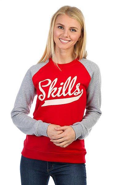 Толстовка классическая женская Skills Skills Classic Red/Grey<br><br>Цвет: серый,красный<br>Тип: Толстовка классическая<br>Возраст: Взрослый<br>Пол: Женский