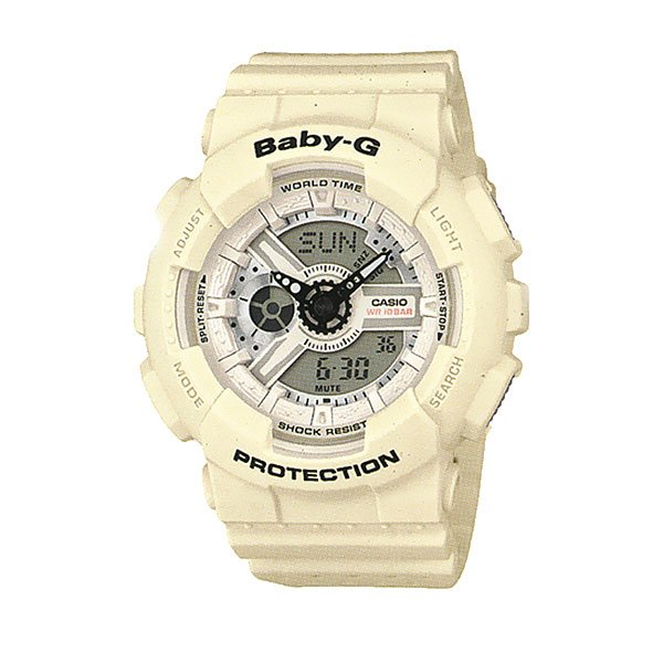 Кварцевые часы женские Casio G-Shock Baby-g 67594 Ba-110pp-7a White часы женские casio g shock baby g ba 120 7b white