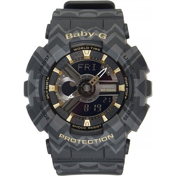 Кварцевые часы Casio G-Shock Baby-g 67045 Ba-110tp-1a GreyCasio BABY-G – противоударные наручные часы, которые вдохновляют!Часы являются идеальным аксессуаром для гармоничного сочетания спортивных увлечений и стильного внешнего вида.Стоит отметить, что для коллекции BABY-G с каждым годом дизайнеры разрабатывают все больше фешн-деталей, чем постоянно усовершенствуют стиль наручных часов. Характеристики:Часы оснащенысветодиодной подсветкой, что позволяет считывать информацию с циферблата даже в темное время суток.Ударопрочностьчасамобеспечивает качественный полимерный корпус. который защищает часы от внешних воздействий. Функцияотображения мирового времени, которая позволяет видеть время того часового пояса в котором вы находитесь, а также любого другого пояса или города по всемумиру. Функция секундомерапозволяет производить вычисления до 1/100 секунды на протяжении 24 часов. Таймер обратного отсчета.Будильник: 5 ежедневных будильников, а также есть функция повтора сигнала будильника. Функция включения или отключения звука кнопок -с помощью этой функции Вы сможете отключать звук кнопок, но при этом все звуковые сигналы остаются активными. Автоматический календарьотображает точную дату.Отображение времени в двух форматах - 12 и 24 часа.<br><br>Цвет: серый<br>Тип: Кварцевые часы<br>Возраст: Взрослый<br>Пол: Мужской