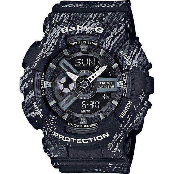 Кварцевые часы женскиеCasio G-Shock Baby-g 67596 Ba-110tx-1a BlackCasio BABY-G – противоударные наручные часы, которые вдохновляют!Часы являются идеальным аксессуаром для гармоничного сочетания спортивных увлечений и стильного внешнего вида.Стоит отметить, что для коллекции BABY-G с каждым годом дизайнеры разрабатывают все больше фешн-деталей, чем постоянно усовершенствуют стиль наручных часов. Характеристики:Часы оснащенысветодиодной подсветкой, что позволяет считывать информацию с циферблата даже в темное время суток.Ударопрочностьчасамобеспечивает качественный полимерный корпус. который защищает часы от внешних воздействий. Функцияотображения мирового времени, которая позволяет видеть время того часового пояса в котором вы находитесь, а также любого другого пояса или города по всемумиру. Функция секундомерапозволяет производить вычисления до 1/100 секунды на протяжении 24 часов. Таймер обратного отсчета.Будильник: 5 ежедневных будильников, а также есть функция повтора сигнала будильника. Функция включения или отключения звука кнопок -с помощью этой функции Вы сможете отключать звук кнопок, но при этом все звуковые сигналы остаются активными. Автоматический календарьотображает точную дату.Отображение времени в двух форматах - 12 и 24 часа.<br><br>Цвет: черный,серый<br>Тип: Кварцевые часы<br>Возраст: Взрослый<br>Пол: Женский