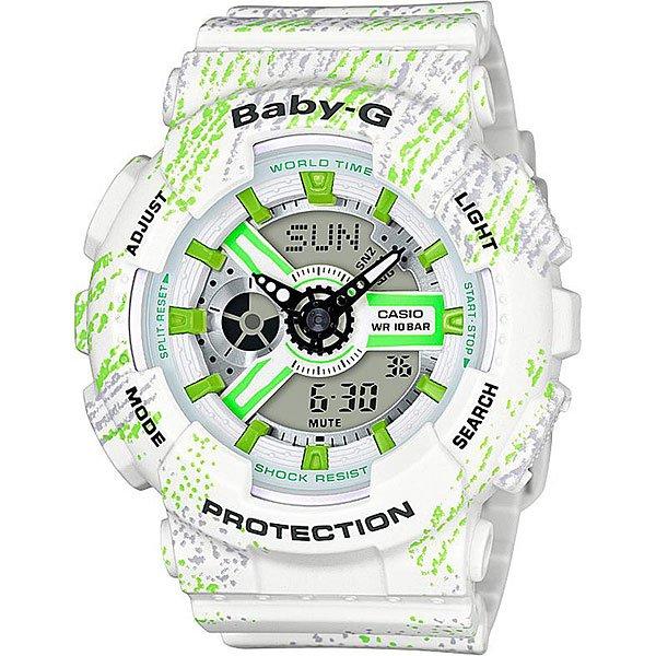 Кварцевые часы женские Casio G-Shock Baby-g 67598 Ba-110tx-7a White часы наручные casio часы baby ba 120sc 9a