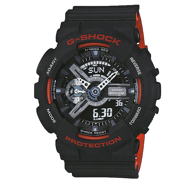 Кварцевые часы Casio G-shock 67575 Ga-110hr-1aСтильные наручные часы для любителей функционала и активного образа жизни.Характеристики:Часы оснащенысветодиодной подсветкой, что позволяет считывать информацию с циферблата даже в темное время суток.Ударопрочностьчасамобеспечивает качественный полимерный корпус. который защищает часы от внешних воздействий. Функцияотображения мирового времени, которая позволяет видеть время того часового пояса в котором вы находитесь, а также любого другого пояса или города по всему миру. Функция секундомерапозволяет производить вычисления до 1/100 секунды на протяжении 24 часов. Таймер обратного отсчета.Будильник: 5 ежедневных будильников, а также есть функция повтора сигнала будильника. Функция включения или отключения звука кнопок -с помощью этой функции Вы сможете отключать звук кнопок, но при этом все звуковые сигналы остаются активными. Автоматический календарьотображает точную дату.Отображение времени в двух форматах - 12 и 24 часа.<br><br>Цвет: черный<br>Тип: Кварцевые часы<br>Возраст: Взрослый<br>Пол: Мужской