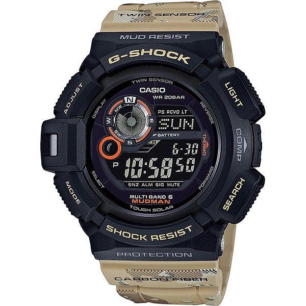 Электронные часы Casio G-shock Premium 67364 Gw-9300dc-1eЧасы премиум-класса, способные выдержать любые прихоти своего активного владельца.Характеристики:Автоматическая подсветка: Благодаря электролюминесцентной панели, обеспечивающей освещение всего циферблата, облегчается считывание данных. Автоподсветка автоматически включает электролюминесцентную подсветку, когда Вы наклоняете часы по направлению к себе для получения информации. Ударопрочная конструкция защищает от ударов и вибрации. Особая конструкция, устойчивая к пыли и загрязнениям, предохраняет попадание грязи в часы.Солнечная подзаряжающаяся батарейка обеспечивает питание часов для работы. Встроенный цифровой компас определяет северный магнитный полюс.Датчик измеряет температуру окружающего воздуха вокруг часов и отображает ее на экране в градусах °C (-10°C /+60°C). Отображение данных о луне.Функция мирового времени. Функция секундомера - 1/100 сек - 1.000 часов. 5 ежедневных будильников. Функция повтора будильника. Автоматический календарь.Прочное, устойчивое к царапинам минеральное стекло защищает часы от повреждений.Корпус из полимерного пластика. Натуральный полимерный материал является идеальным для изготовления ремешка благодаря своей чрезвычайной прочности и гибкости.<br><br>Цвет: серый,черный<br>Тип: Электронные часы<br>Возраст: Взрослый<br>Пол: Мужской