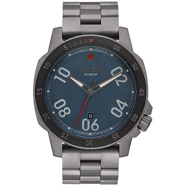 Кварцевые часы Nixon Ranger BlueНекоторые из нас рождены скитаться, часыRanger разработаны специально для таких людей! А лаконичность дизайна позволит Вам чувствовать себя комфортно в любой ситуации и компании. Характеристики:Японский кварцевый механизм Miyota.Прочный корпус из нержавеющей сталис защитой заводной головки. Закаленное минеральное стекло. Завинчивающаяся задняя крышка из нержавеющей стали.Водонепроницаемость: 100 метров / 10 АТМ. Замок из нержавеющей стали с двойной блокировкой и микрорегулировкой.<br><br>Цвет: серый<br>Тип: Кварцевые часы<br>Возраст: Взрослый<br>Пол: Мужской