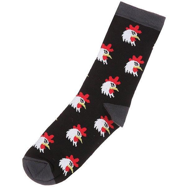 Носки средние женские Запорожец Петухи Головы Черный носки средние женские запорожец лук белый оранжевый