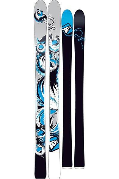 Горные лыжи женские Apo Gigi 165 Black/Grey/Light Blue от Proskater