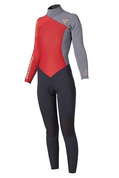 Гидрокостюм (Комбинезон) женский Mystic Diva 4/3 D/L Fullsuit CoralДлинный теплый и при этом невероятно легкий и эластичный гидрокостюмDiva идеально подходит для женщин, готовых сразится с водной стихией. Этот гидрокостюм выполнен из 100% M-Flex неопрена тянущегося во всех направлениях, так что свобода движений будет обеспечена на все 100% процентов.Характеристики:Неопрен M-Flex 100%: самый тянущийся неопрен в линейке. Используемая технология перекрестного плетения позволяет тянуться во всех направлениях, не стесняя движений. Мягкий, приятен коже.Утепленная внутренняя подкладка. Polygiene: технология, использующая природную соль и серебро для нейтрализации роста вызывающих запах бактерий и грибков. Резиновое покрытие, наносимое на каждый шов для предотвращения попадания влаги. Overhead backup - Задняя неопреновая панель, переходящая в воротник. Предотвращает проникновение воды через молнию и шейный вырез гидрокостюма. 4-way stretch kneepads - наколенники тянущейся в 4-х направлениях материала для защиты ваших ног от каких либо царапин и повреждений. Velcro ankle closure - Затягивающиеся вокруг лодыжек ремни на липучках, препятствуют попаданию воды внутрь костюма. Нескользящие манжеты – силиконовое покрытие изнутри. Карман для ключей. Aquaflush - Перфорированный неопрен в нижней части ног, не позволяет скапливаться воде.<br><br>Цвет: черный,серый,красный<br>Тип: Гидрокостюм (Комбинезон)<br>Возраст: Взрослый<br>Пол: Женский