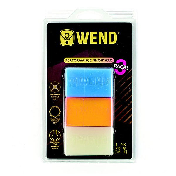 Набор парафинов Wend Nf Performance Wax Cold+warm+uni 30+30+30 G Yellow от Proskater
