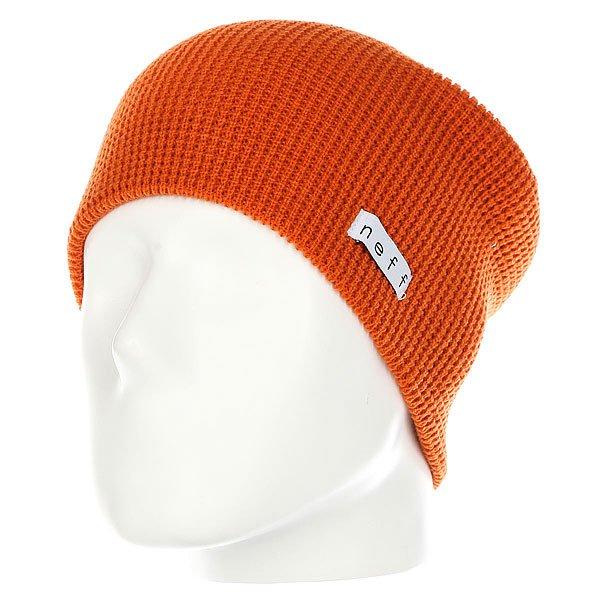 Шапка носок Neff Quill Beanie Orange<br><br>Цвет: оранжевый<br>Тип: Шапка носок<br>Возраст: Взрослый<br>Пол: Мужской