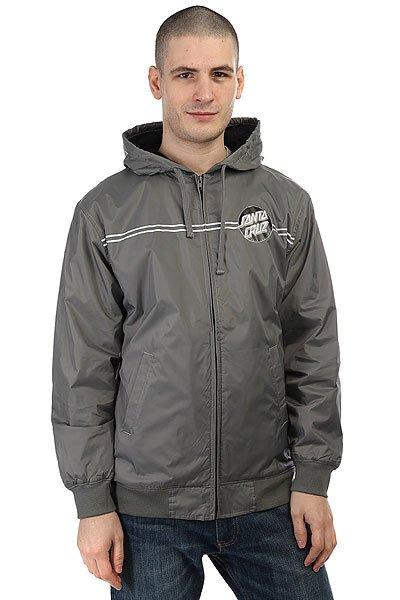 Куртка Santa Cruz Dot Windbreaker Charcoal<br><br>Цвет: серый<br>Тип: Куртка<br>Возраст: Взрослый<br>Пол: Мужской
