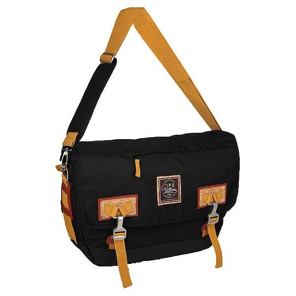 Сумка через плечо Picture Organic Walden Bag BlackДостаточно вместительная сумка, в которую легко войдут книги, ноутбук и прочие необходимые вещи. Отличный вариант для учебы, работы и небольших поездок.Технические характеристики: Основное отделение на молнии с клапаном.Карман для ноутбука.Регулируемый плечевой ремень с мягкой накладкой.<br><br>Цвет: коричневый,черный<br>Тип: Сумка через плечо<br>Возраст: Взрослый<br>Пол: Мужской