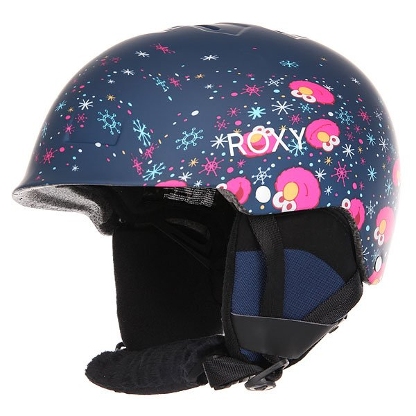 Шлем для сноуборда детский Roxy Happyland Elmo Print blueprint<br><br>Цвет: черный,мультиколор<br>Тип: Шлем для сноуборда<br>Возраст: Детский