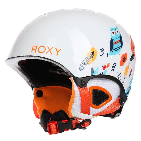 Шлем для сноуборда детский Roxy Misty Girl Little Owl/Bright WhiteB<br><br>Цвет: мультиколор,белый<br>Тип: Шлем для сноуборда<br>Возраст: Детский