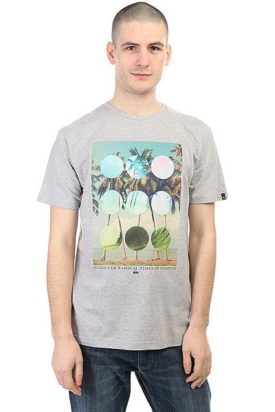 Футболка Quiksilver Lostparadise Athletic Heather quiksilver футболка quiksilver snake fined charcoal heather
