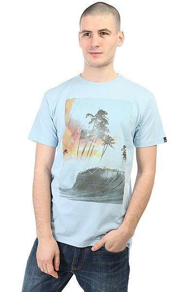 Футболка Quiksilver Wavethunder Angel Falls<br><br>Цвет: голубой<br>Тип: Футболка<br>Возраст: Взрослый<br>Пол: Мужской