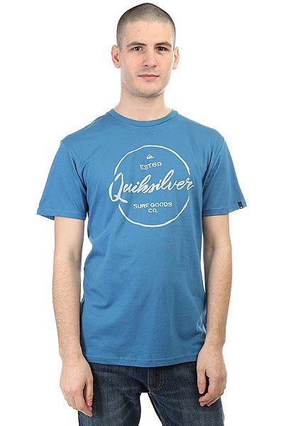 Футболка Quiksilver Silvered Vallarta Blue<br><br>Цвет: синий<br>Тип: Футболка<br>Возраст: Взрослый<br>Пол: Мужской