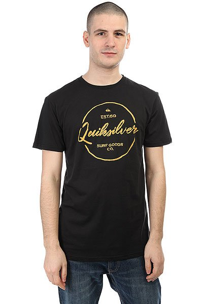 Футболка Quiksilver Silvered Black<br><br>Цвет: черный<br>Тип: Футболка<br>Возраст: Взрослый<br>Пол: Мужской