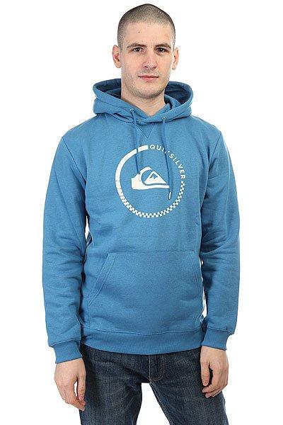 Толстовка кенгуру Quiksilver Big Logo Hood Vallarta Blue<br><br>Цвет: синий<br>Тип: Толстовка кенгуру<br>Возраст: Взрослый<br>Пол: Мужской