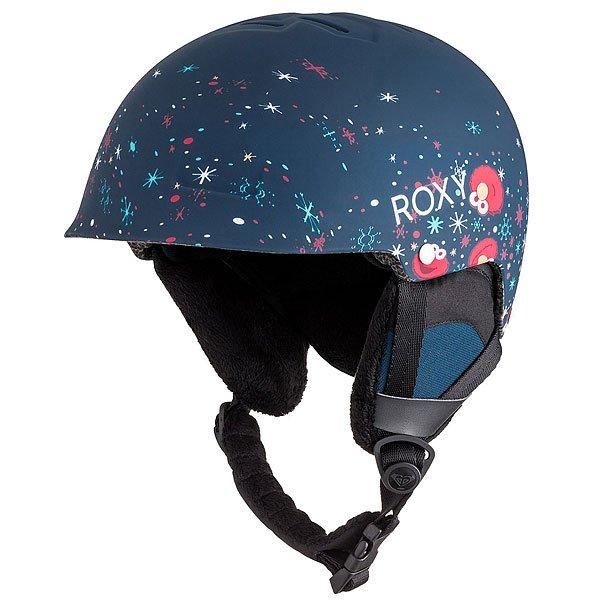 Шлем для сноуборда детский Roxy Happyland BlueПродуманная вентиляция, 330 г веса, очень приятная подкладка из шерпы - все это сделано для Вашего удобства и безопасности Вашей головы. Несколько расцветок помогут Вам с легкостью подобрать шлем Roxy Happyland к Вашему комплекту одежды. Кстати говоря, ушные панели сделаны съемными, чтобы весной Вам не было жарко в шлеме.Характеристики:Супер легкая двойная формованная оболочка. Внутренний слой из вспененного материала EPS, амортизирующего удары. Фронтальная вентиляция для эффективного воздухообмена. Подкладка из шерпы с сетчатыми вставками. Интегрированная система регулировки размера. Мягкая накладка на подбородок. Крепление для маски. Вес: 330 грамм. Состав: 100% пластик.<br><br>Цвет: синий,мультиколор<br>Тип: Шлем для сноуборда<br>Возраст: Детский