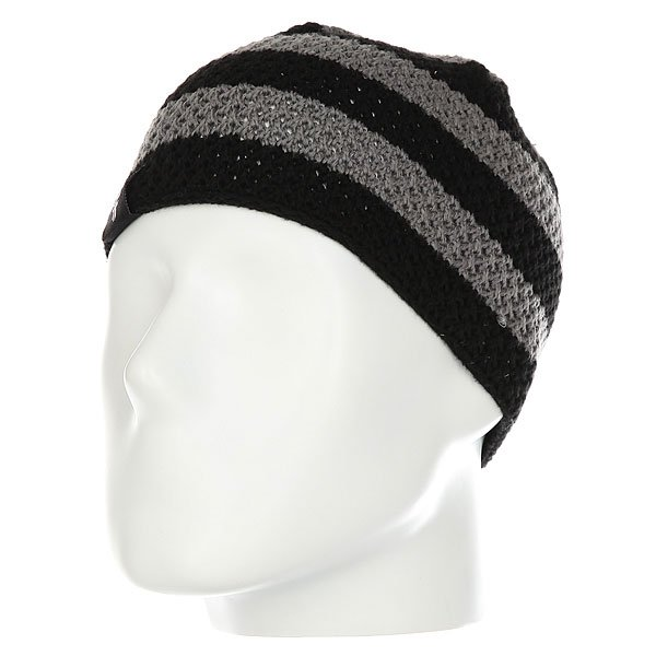 Шапка Fallen Buffalo Striped Knits Beanie Black/Charcoal шапка fallen buffalo striped knits beanie grey oxblood