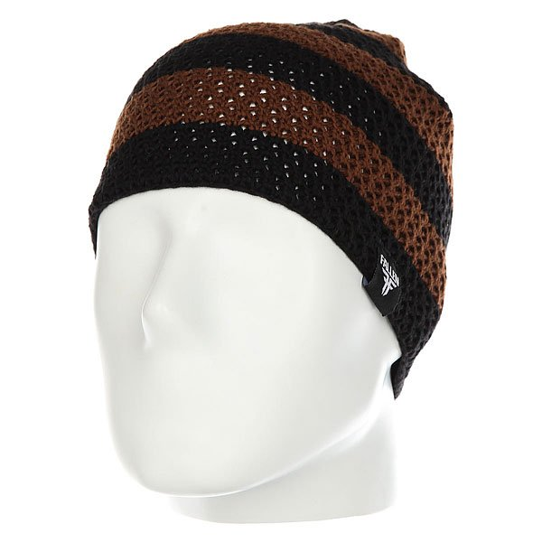 Шапка Fallen Buffalo Striped Knits Beanie Brown/Black шапка fallen buffalo striped knits beanie grey oxblood