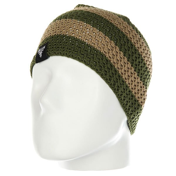 Шапка Fallen Buffalo Striped Knits Beanie Tan/Olive шапка fallen buffalo striped knits beanie grey oxblood