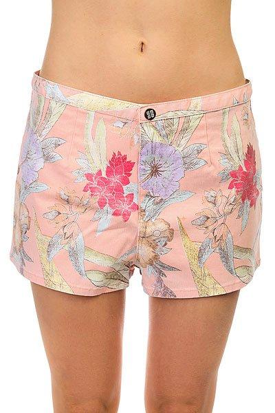 Шорты классические женские Insight Del May Shorts Palme Peach<br><br>Цвет: розовый,мультиколор<br>Тип: Шорты классические<br>Возраст: Взрослый<br>Пол: Женский