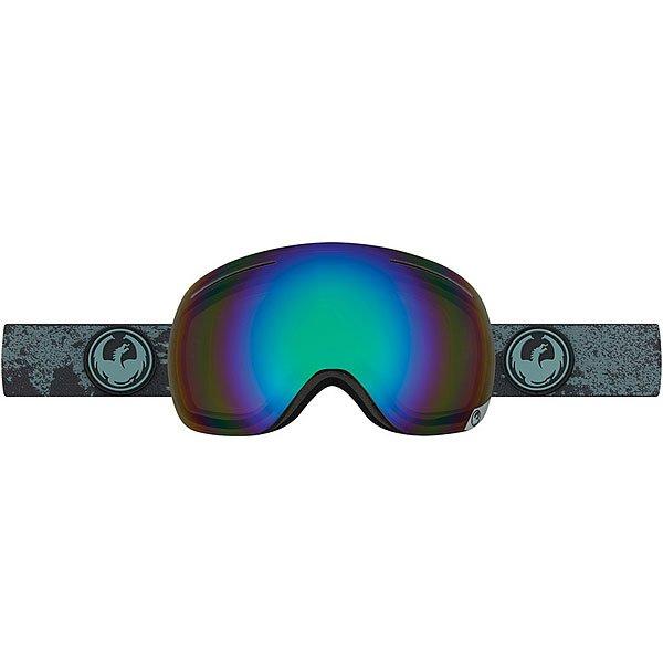Маска для сноуборда Dragon X1 Mason Grey/Flash Green PolarizedЭволюция оригинального дизайна в маске X1 с запатентованной безоправной технологией, которая увеличивает периферийный обзор и добавляет комфорта.Технические характеристики: Запатентованная безоправная технология.Оптически корректные сферические линзы.Система вентиляции и защиты от снега Armored Venting.100% защита от ультрафиолета.Трехслойная пена с подкладкой из микрофлиса для повышенного комфорта.Регулируемый ремешок с силиконом.Совместима со шлемом.Технология Super Anti-Fog - новейшая разработка, эксклюзивно у Dragon.Улучшенная циркуляция воздуха.Для широкой формы лица.<br><br>Цвет: черный<br>Тип: Маска для сноуборда<br>Возраст: Взрослый<br>Пол: Мужской