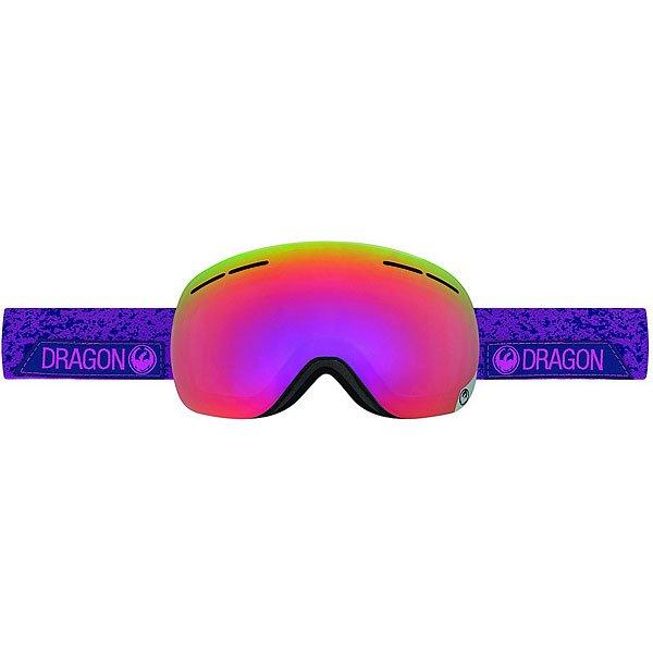 Маска для сноуборда Dragon X1s Stone Violet/Purpe Ion Yellow Red Ion