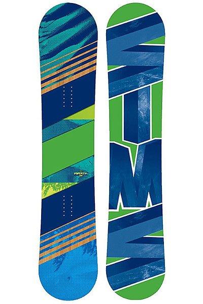 Сноуборд Sims Wrath Anti Cam 158 Green/Blue