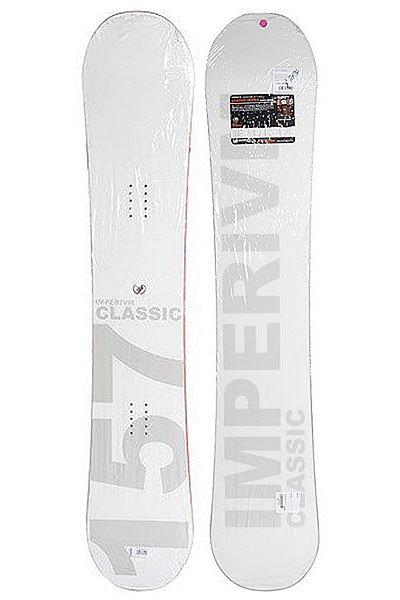 Сноуборд Imperivm Classic 157 WhiteГладкий, стильный и скромный сноуборд из классической серии Imperium.Технические характеристики: Стекловолокно Biax.Деревянный сердечник FSC из тополя и бука.Скользяк Extruded 1320.<br><br>Цвет: белый<br>Тип: Сноуборд<br>Возраст: Взрослый<br>Пол: Мужской