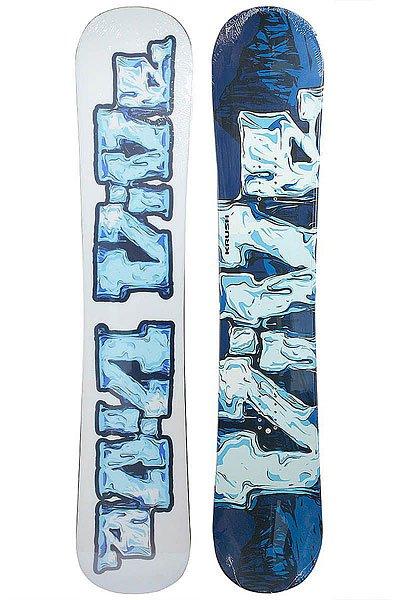 Сноуборд Vive Krush No-cam 148 BlueПростой сноуборд в конструкции Cap. На этой доске Вы можете выписывать широкие дуги на склонах и учиться правильно кантоваться, независимо от погодных условий и качества снега.Технические характеристики: Конструкция Cap.Прогиб No-Cam.Стекловолокно Bi-Axial.Деревянный сердечник.Скользяк UHMW Extruded.<br><br>Цвет: белый,синий<br>Тип: Сноуборд<br>Возраст: Взрослый<br>Пол: Мужской