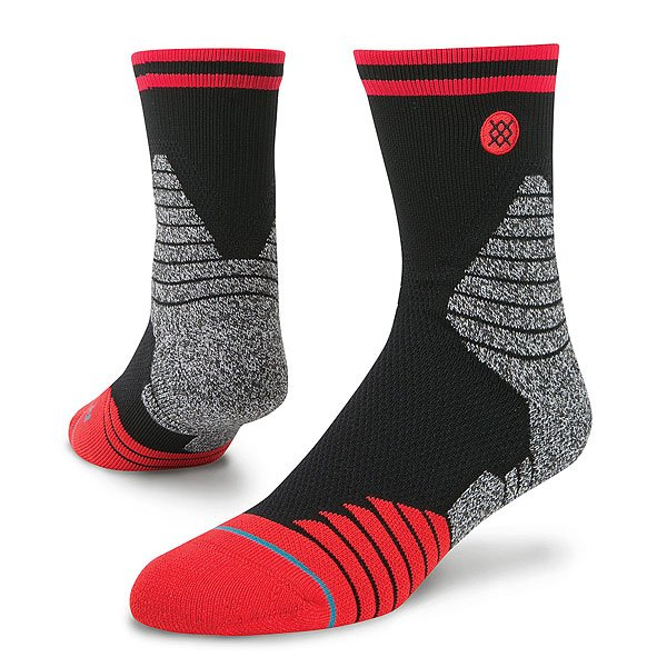 Носки средние Stance Basketball Performance Speedway V3 Mid Red<br><br>Цвет: черный,красный,серый<br>Тип: Носки средние<br>Возраст: Взрослый<br>Пол: Мужской