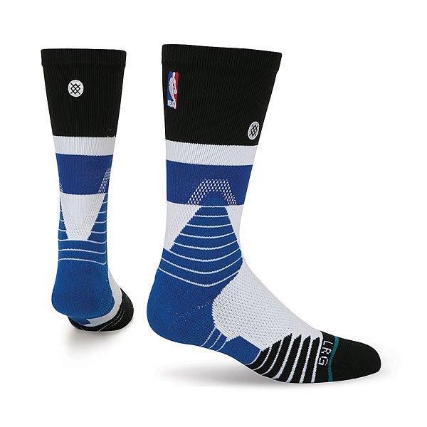 Носки средние Stance Nba Oncourt Crew Cap Blue<br><br>Цвет: черный,синий,белый<br>Тип: Носки средние<br>Возраст: Взрослый<br>Пол: Мужской