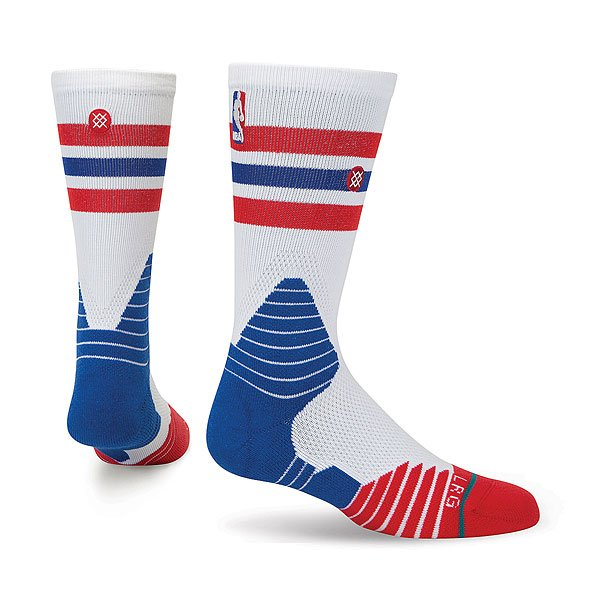 Носки средние Stance Nba Oncourt Crew Thin Stripe Red