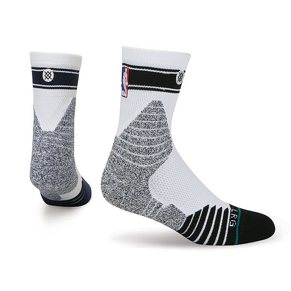 Носки средние Stance Nba Oncourt Qtr Bold Stripe White