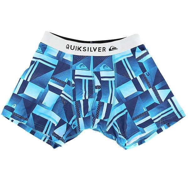 Трусы Quiksilver Boxer Poster Blue Miror<br><br>Цвет: синий,голубой<br>Тип: Трусы<br>Возраст: Взрослый<br>Пол: Мужской